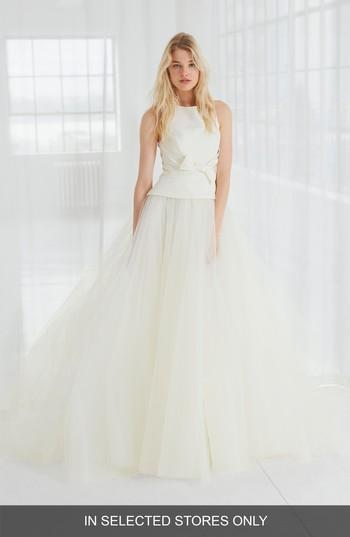 Wedding - Amsale Miller Faille & Tulle Ball Gown