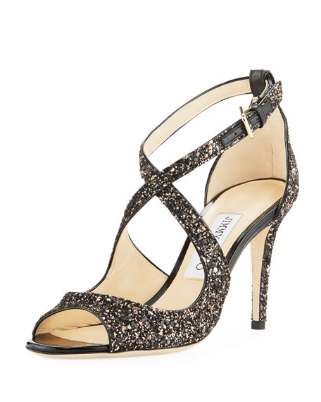 Wedding - Emily Coarse Glitter Sandal