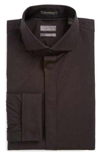 Wedding - Calibrate Trim Fit Solid Tuxedo Shirt