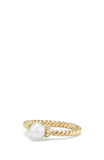 Свадьба - David Yurman Solari Station Ring with Pearl & Diamonds in 18K Gold
