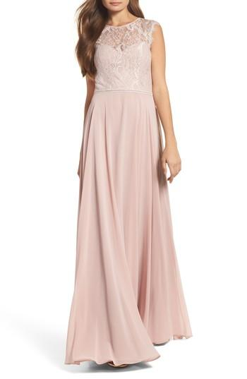 Свадьба - Hayley Paige Occasions Lace & Chiffon Gown