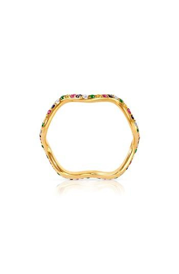 Wedding - Sabine Getty Baby Memphis Multistone Wave Band Ring