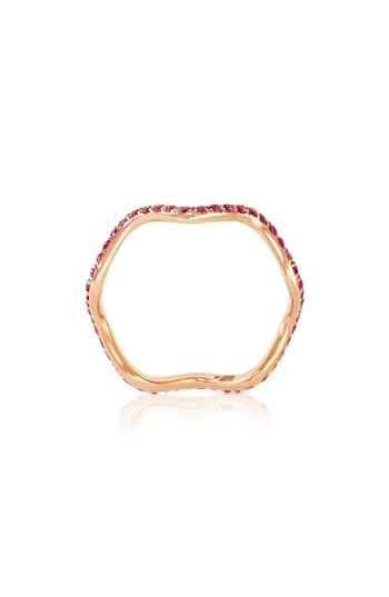 Wedding - Sabine Getty Baby Memphis Pink Sapphire Wave Band Ring