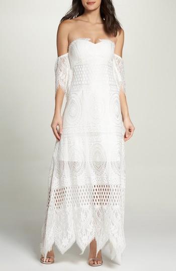 زفاف - Foxiedox Lace Off the Shoulder Maxi Dress
