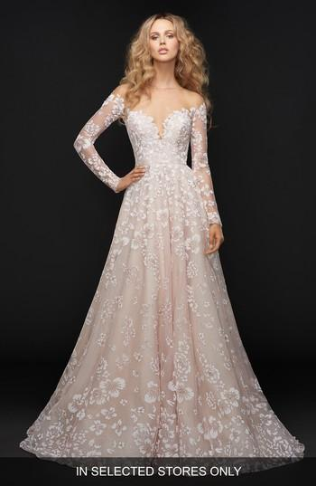 Wedding - Hayley Paige Stevie Illusion Off the Shoulder Gown