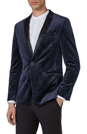 Свадьба - Topman Skinny Fit Velvet Tuxedo Jacket