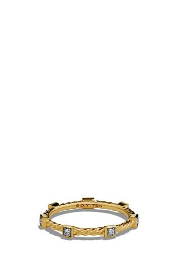 Wedding - David Yurman Paveflex Ring with Diamonds in 18K Gold, 2.7mm