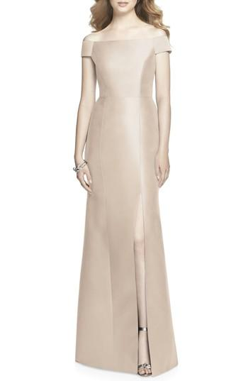 Wedding - Alfred Sung Off the Shoulder Sateen Gown