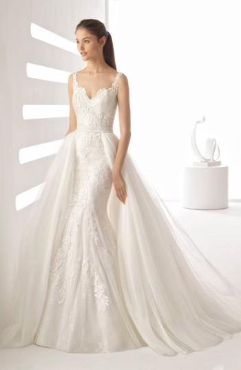 زفاف - Rosa Clará Agnes Tulle Overskirt Mermaid Gown