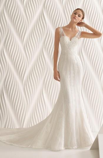 Mariage - Rosa Clará Adelfa Embellished Lace Mermaid Gown