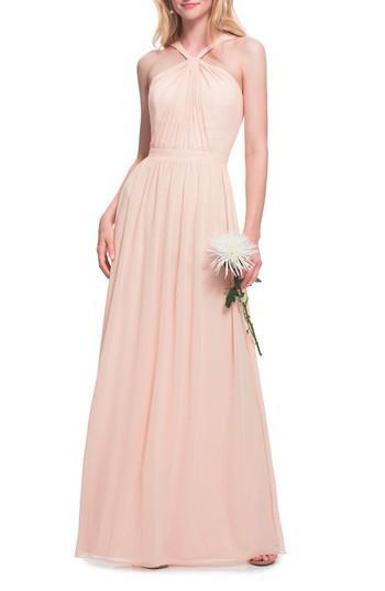 Wedding - #Levkoff Halter Neck Chiffon Gown