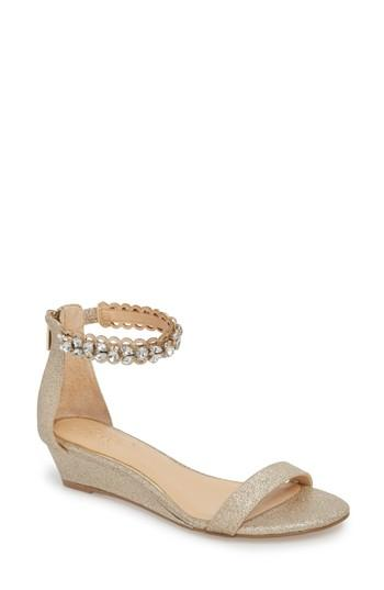 Wedding - Jewel Badgley Mischka Ginger Wedge Sandal (Women)