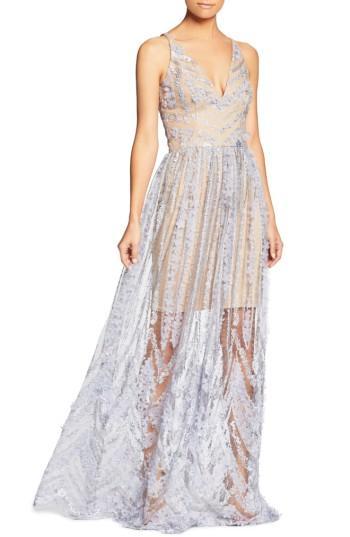 Hochzeit - Dress the Population Chelsea Lace A-Line Gown
