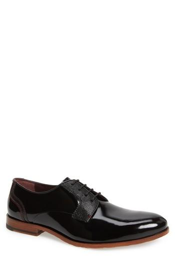Wedding - Ted Baker London Irontp Plain Toe Derby (Men)