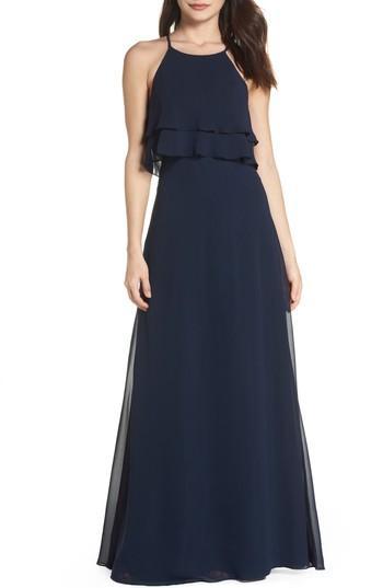 Wedding - Jenny Yoo Charlie Ruffle Chiffon Gown