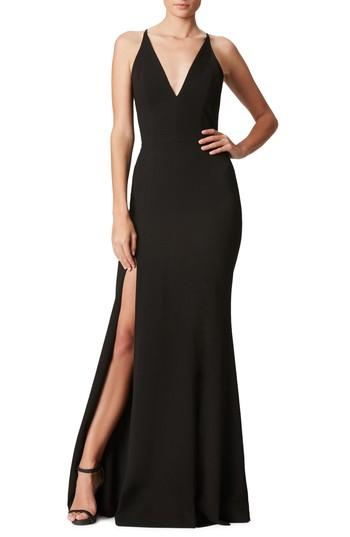 Wedding - Dress the Population Iris Slit Crepe Gown