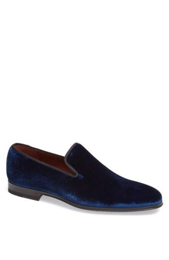 Wedding - Magnanni 'Dorio' Velvet Venetian Loafer