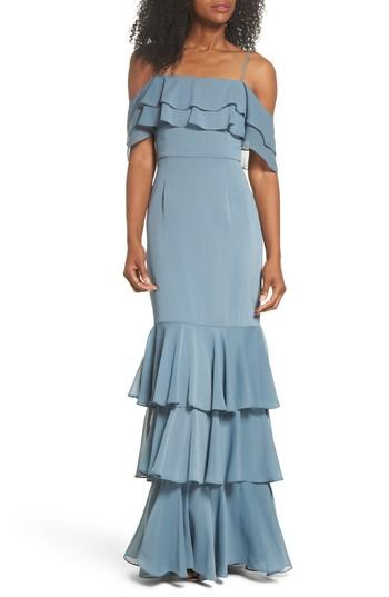 Mariage - WAYF Lauren Off the Shoulder Tiered Gown