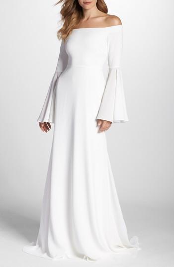 Hochzeit - Joanna August Bowie Off the Shoulder Bell Sleeve Gown