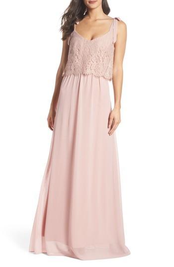 Wedding - Heartloom Koko Tie Shoulder Lace Bodice Gown
