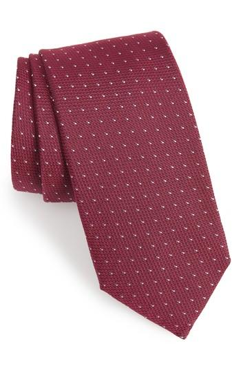 زفاف - BOSS Dot Silk Tie
