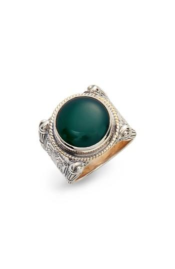 Wedding - Konstantino Green Agate Ring
