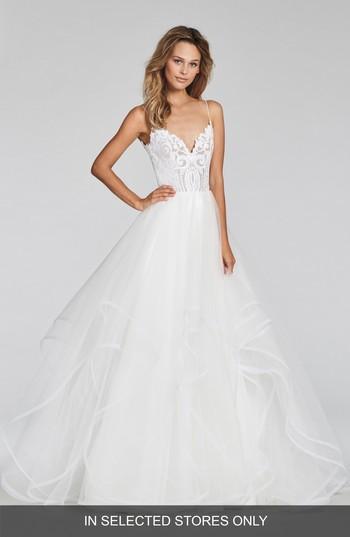 Hochzeit - Blush by Hayley Paige Pepper Beaded Tulle Ballgown