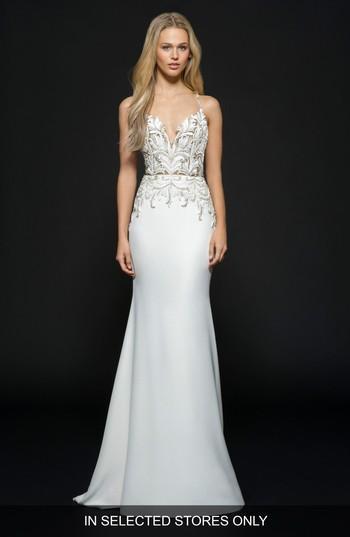 Hochzeit - Hayley Paige Edie Silk Crepe Trumpet Gown