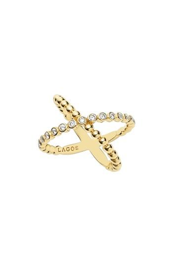Wedding - LAGOS Caviar Crisscross Ring
