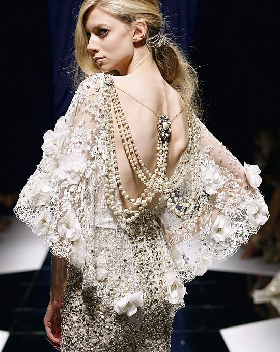 Wedding - Gorgeous Lace Back Dress With Pearl ♥ Zuhair Murad Wedding Dresses & Prom Dresses