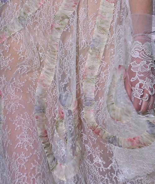 Mariage - Floral Lace robe de soirée