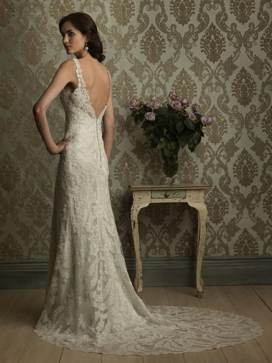 Wedding Dresses Lace Backless : Summer wedding lace backless dress
