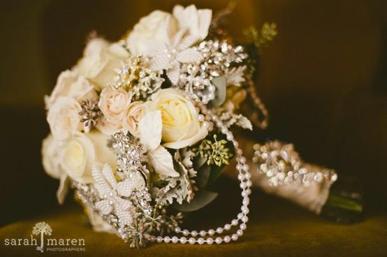 Wedding - Vintage Wedding Bouquet ♥ Handmade Custom Vintage Brooch Wedding Bouquet