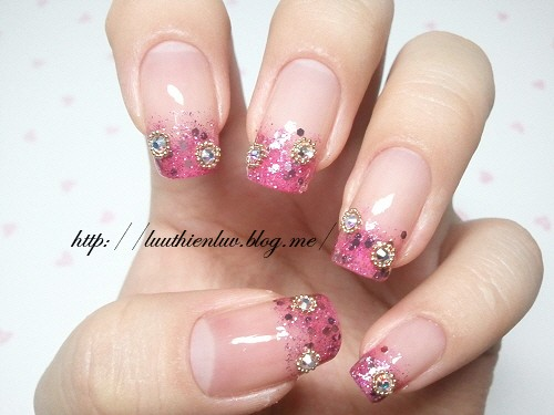 ... unique wedding nail design pink wedding nail design bridal nails with