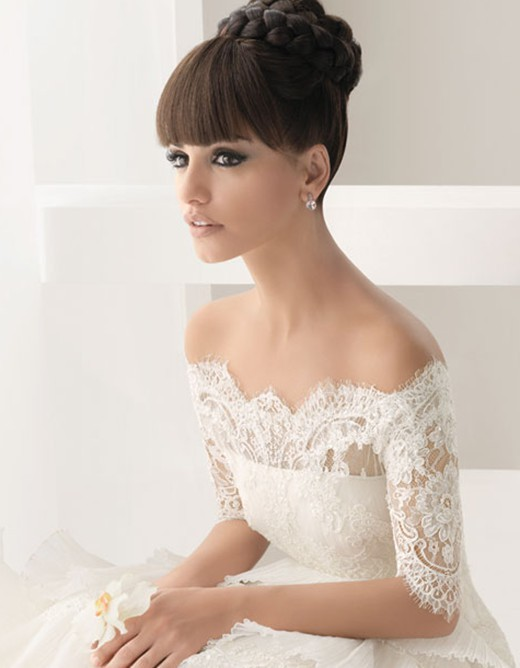 Wedding - Off-The-Shoulder Wedding Dress ♥ Winter Lace Wedding Dresses