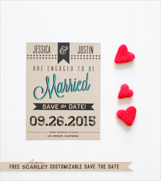 modern wedding free modern printable save the date 792707 weddbook