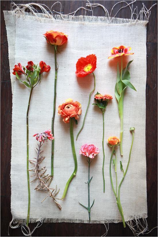Wedding - Orange Wedding Flowers
