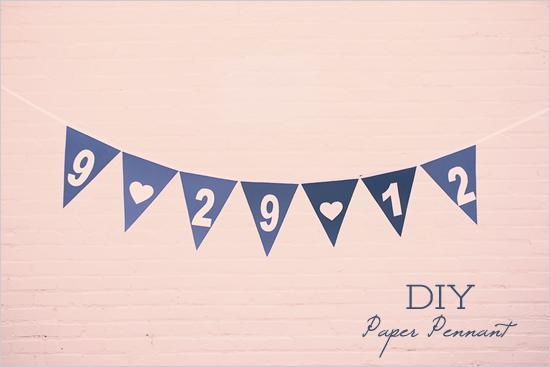 Wedding - Diy Paper Pennant