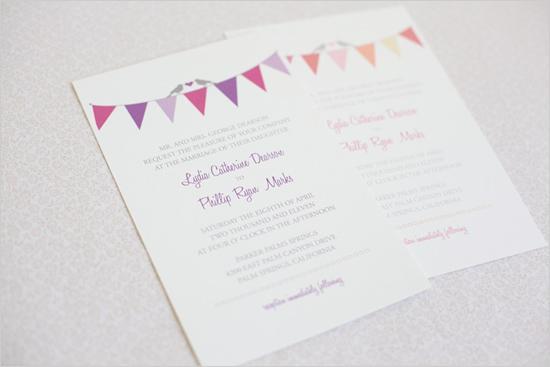 Hochzeit - Bunting Hochzeits-Einladungen