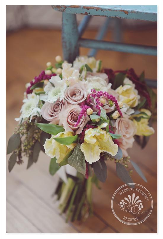 Mariage - Quicksand teintes Rose Bouquet