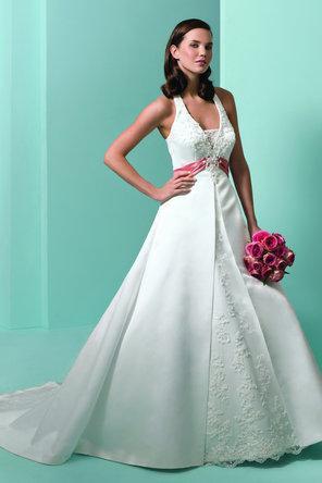 Alfred Angelo Halter Wedding Dress