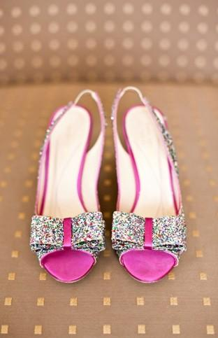 Wedding - Sparkly Wedding Shoes ♥ Glitter Finish Leather Pump