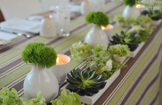 Green Wedding Table Decoration Ideas