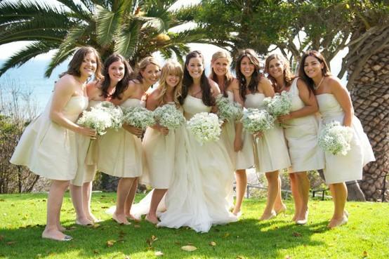 Champagne wedding dress color palette