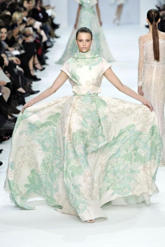 Elie Saab Green Dress