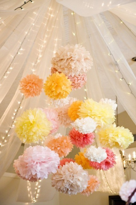 paper pom poms wedding party decoration 799176 weddbook