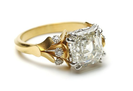anneau de mariage de diamant de luxe superbe bague de fianailles ...