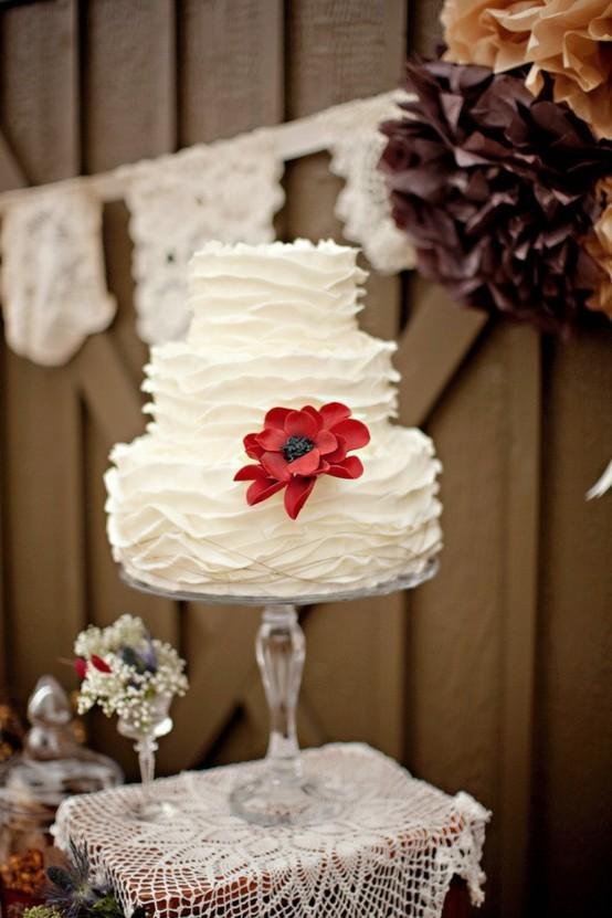 Hochzeit - Ruffle Wedding Cakes ♥ Hochzeitstorte Design
