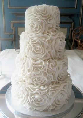 Chic Rosette Wedding Cakes Cake Design