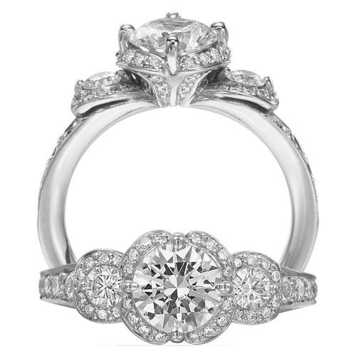 anneau de mariage de diamant de luxe parfait diamant bague tria 802488 weddbook. Black Bedroom Furniture Sets. Home Design Ideas